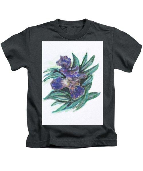 Spring Iris Bloom Kids T-Shirt