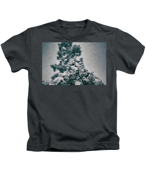 Spring Snowstorm On The Treetops Kids T-Shirt