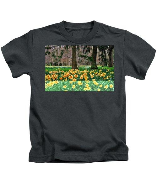 Spring Woodland Daffodils Kids T-Shirt