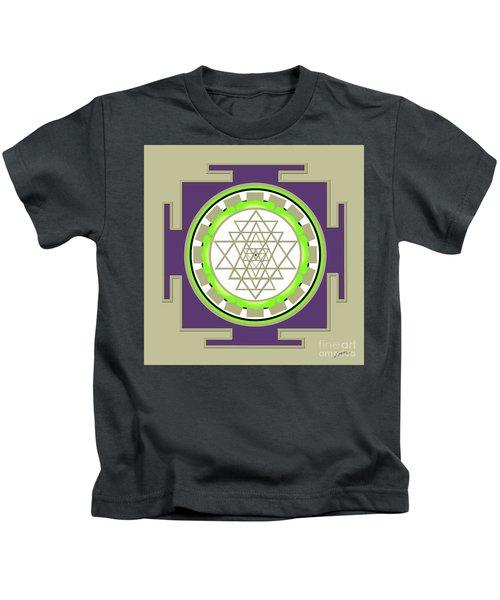 Sri Yantra Of Prosperity Kids T-Shirt