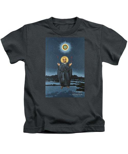 St. Ignatius In Prayer Beneath The Stars 137 Kids T-Shirt