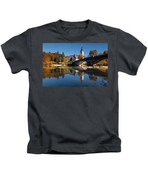 St. John The Baptist On The Lake Bohinj Kids T-Shirt