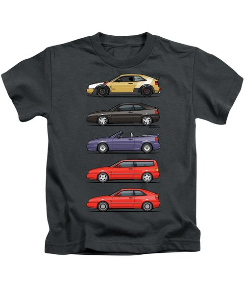 Stack Of Vw Corrados Kids T-Shirt