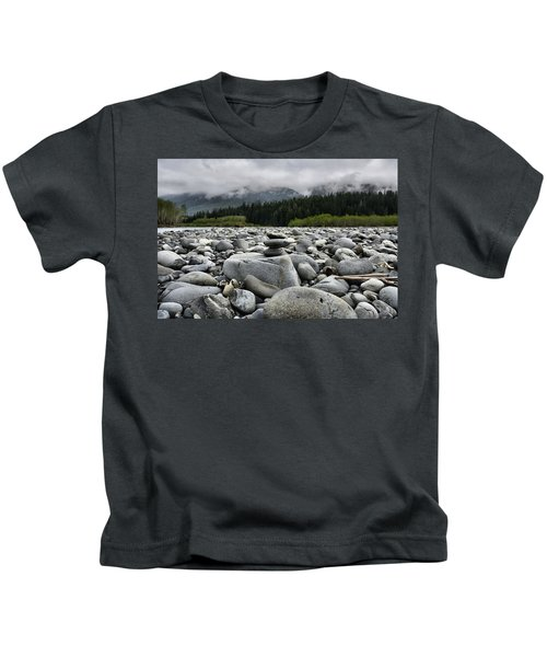 Stacked Rocks Kids T-Shirt