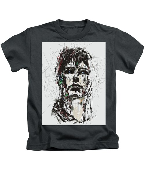 Staggered Abstract Portrait Kids T-Shirt