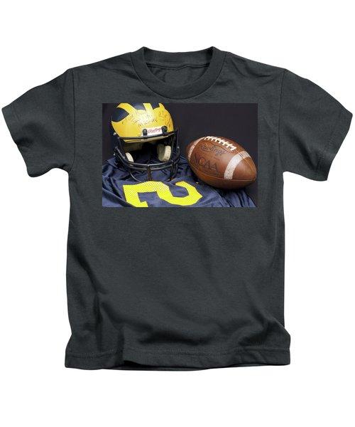 Stan Edwards's Autographed Wolverine Helmet Kids T-Shirt