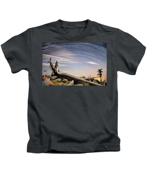 Star Trails By Fort Grant Kids T-Shirt