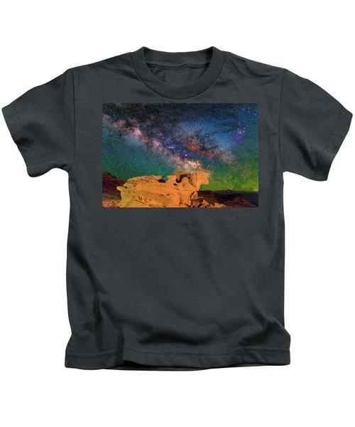 Stargazing Bull Kids T-Shirt