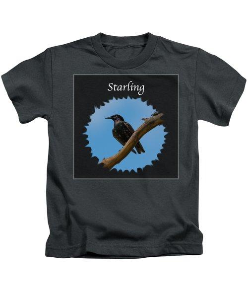 Starling   Kids T-Shirt by Jan M Holden