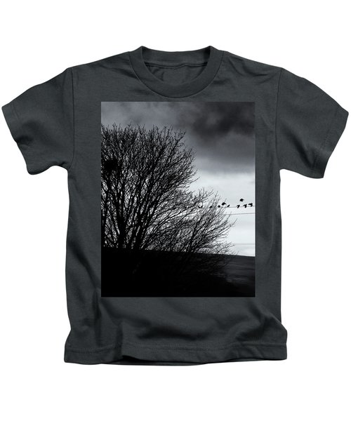 Starlings Roost Kids T-Shirt by Philip Openshaw