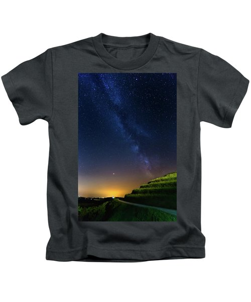 Starry Sky Above Me Kids T-Shirt