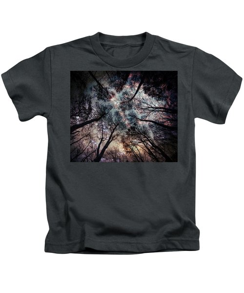 Starry Sky In The Forest Kids T-Shirt
