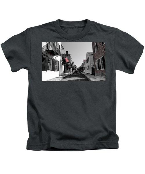 Stars And Stripes- Church St Charleston Sc Kids T-Shirt