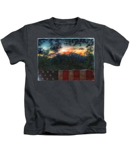 Stars Stripes And Skies Forever Kids T-Shirt