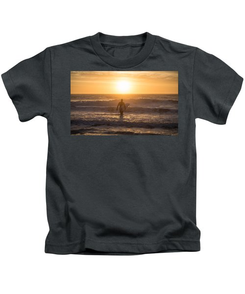 Start The Day Surfing Kids T-Shirt