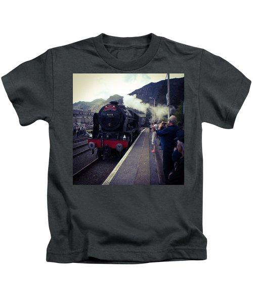 Steam Train, Ffestiniog, North Wales Kids T-Shirt
