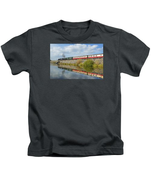 Steam Train Reflections Kids T-Shirt
