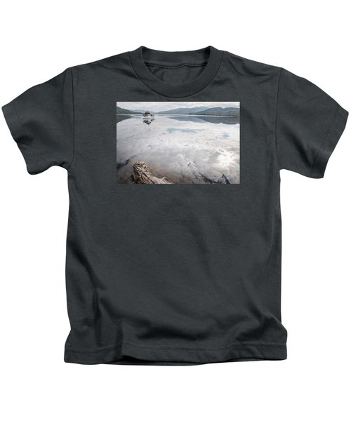 Steamship Sir Walter Scott On Loch Katrine Kids T-Shirt