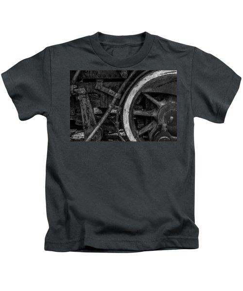 Steel Wheels In Monochrome Kids T-Shirt