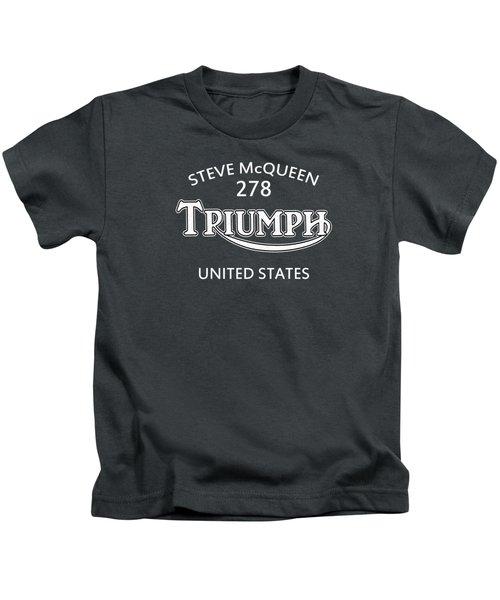 Steve Mcqueen Isdt Triumph Kids T-Shirt