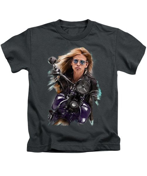 Steven Tyler On A Bike Kids T-Shirt