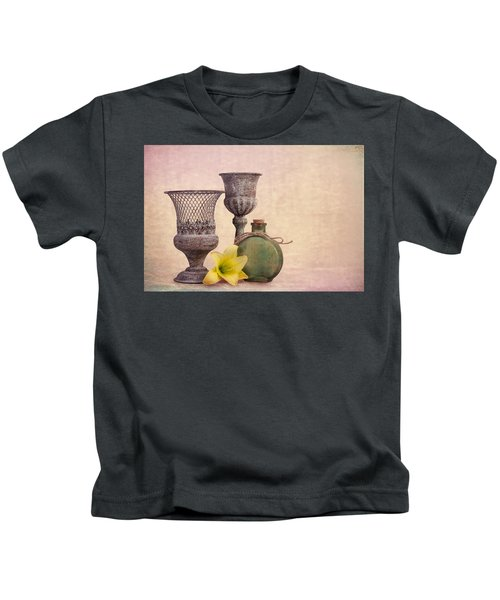 Still Life With Yellow Lily Kids T-Shirt