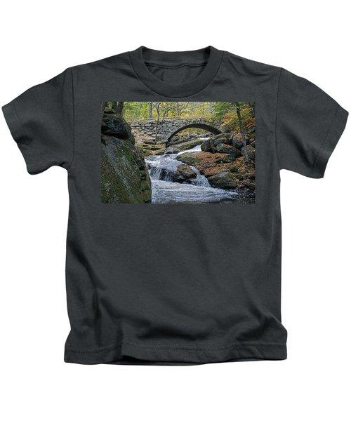 Stone Arch Bridge In Autumn Kids T-Shirt