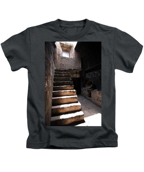 Stone Stairs At Santa Catalina Monastery Kids T-Shirt