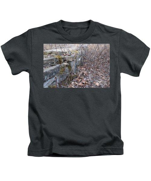 Stone Wall At Jackson Lock Kids T-Shirt