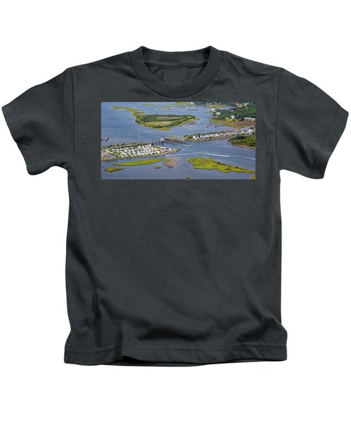 Stopping Traffic Topsail Island Kids T-Shirt