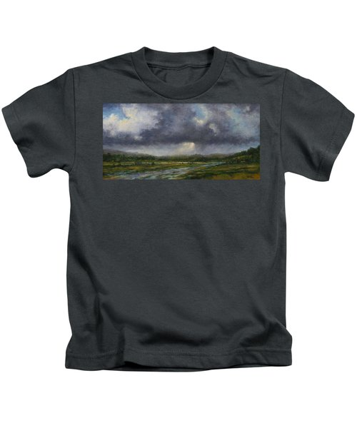 Storm Brewing Over The Refuge Kids T-Shirt