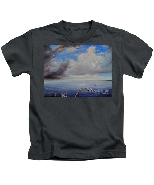 Storm On The Indian River Kids T-Shirt