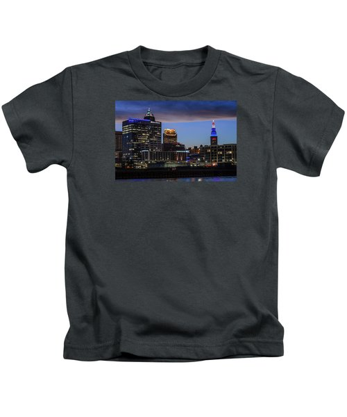Storm Over Cleveland Kids T-Shirt