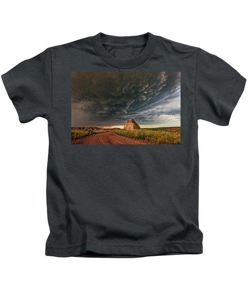 Storm Over Dinosaur Kids T-Shirt