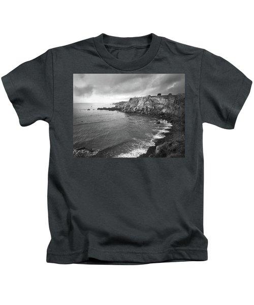 Storm Over The Eastern Shoreline Of Angra Do Heroismo Terceira Kids T-Shirt