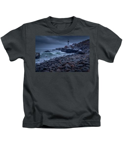 Stormy Lighthouse Kids T-Shirt
