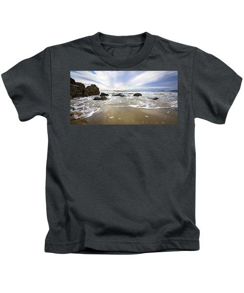 Stormy Maine Morning #1 Kids T-Shirt