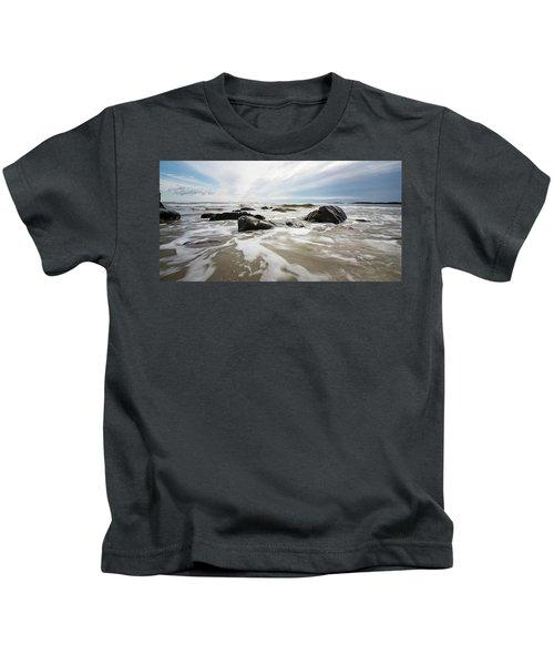 Stormy Maine Morning #3 Kids T-Shirt