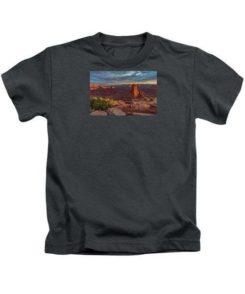 Stormy Sunset - Marlboro Point Kids T-Shirt