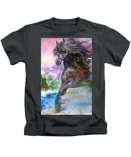 Stormy Wind Horse Kids T-Shirt
