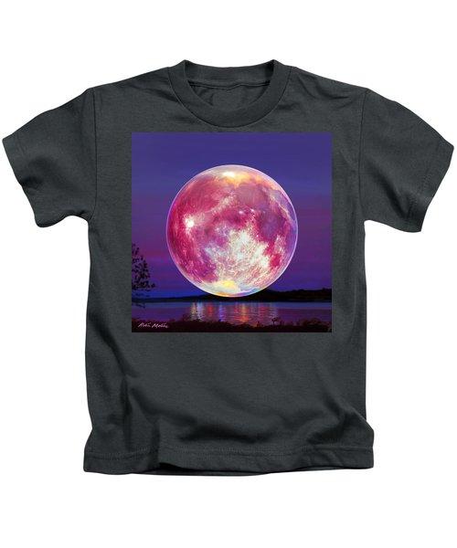 Strawberry Solstice Moon Kids T-Shirt