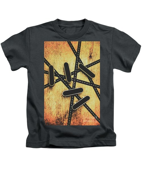 Street Skating Background Kids T-Shirt