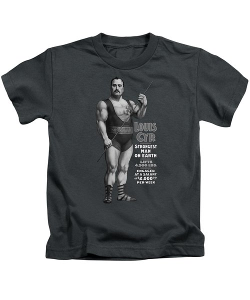 Strongest Man On Earth - Vintage Strongman Kids T-Shirt