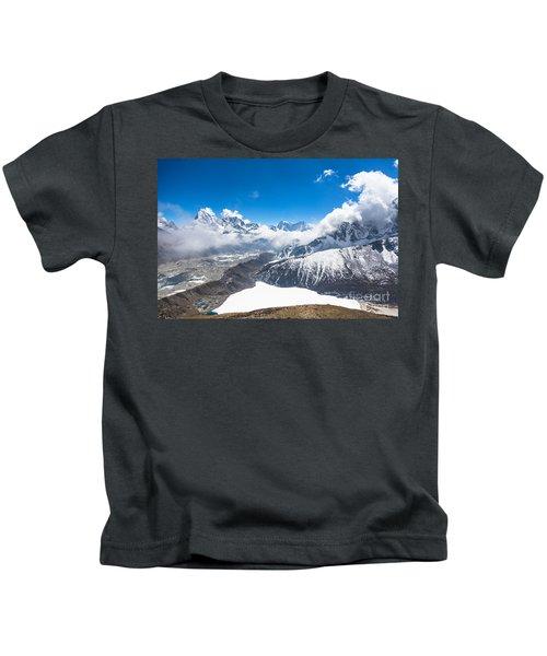 Stunning Panorama Over Gokyo In Nepal Kids T-Shirt