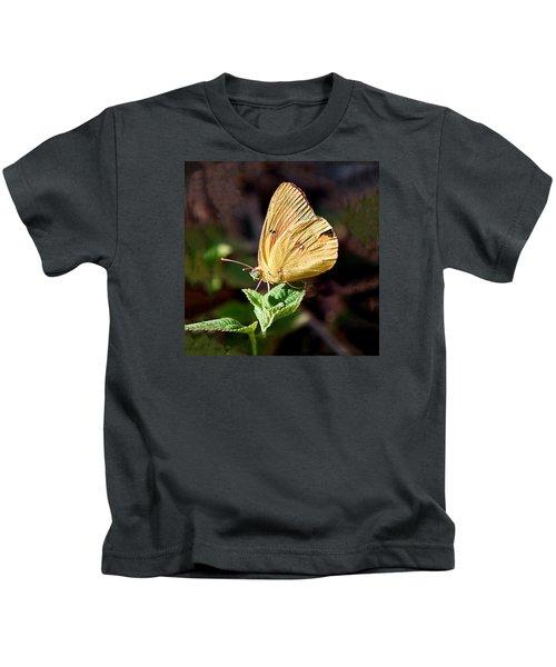 Sulfur Butterfly Profile Kids T-Shirt