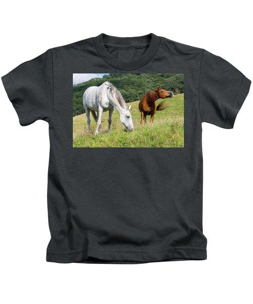 Summer Evening For Horses Kids T-Shirt