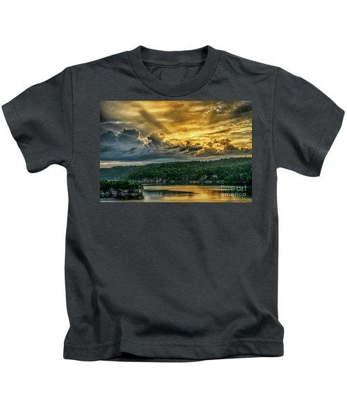 Summersville Lake Sunrise Kids T-Shirt