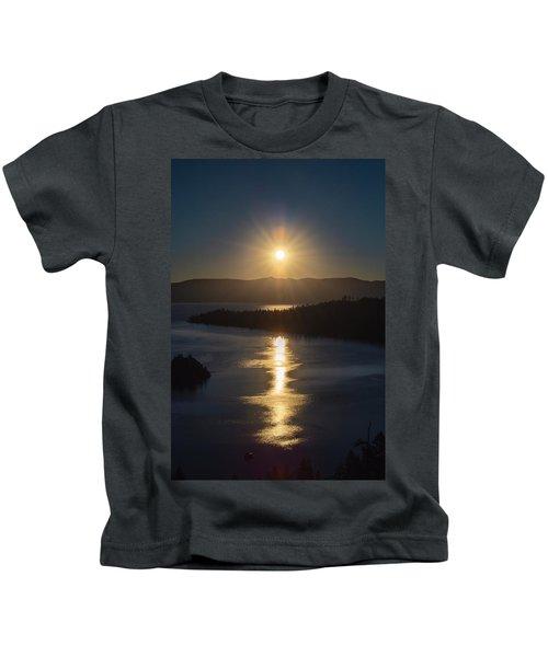 Sun Rising Over Lake Tahoe Kids T-Shirt