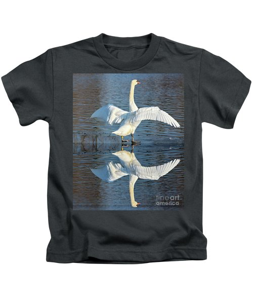Sunbathing Swans Kids T-Shirt