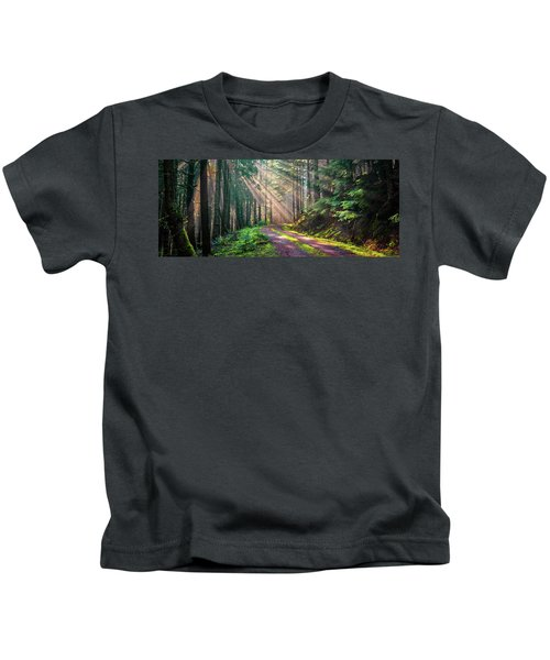 Sunbeams In Trees Kids T-Shirt